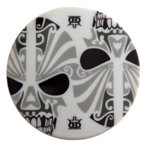 Dynamic Discs Junior Judge DyeMax Black And White Skulls