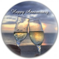 Champagne Glasses Anniversary Disc