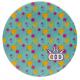 Dynamic Discs Junior Judge DyeMax Memphis Blue