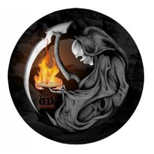 Dynamic Discs Junior Judge DyeMax Grim Reaper Flame