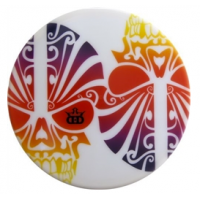 Dynamic Discs Junior Judge DyeMax White Sunset Skulls