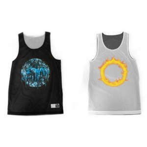 Fire and Ice Reversible Jersey Tank