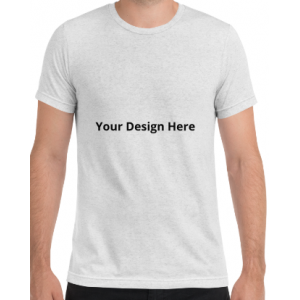 Custom Tri Blend T Shirt (White Fleck)