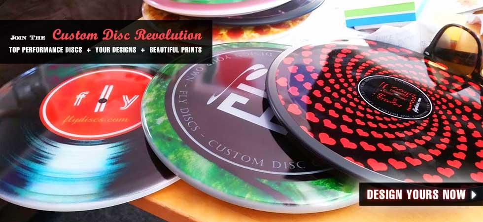 Actual Fly Discs Custom Printed Sample Discs
