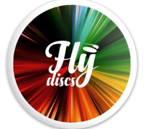 custom background on disc with trademark